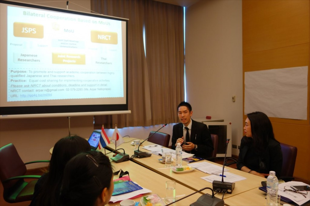 Mr. Ohta, International Program Associate of JSPS Bangkok Office