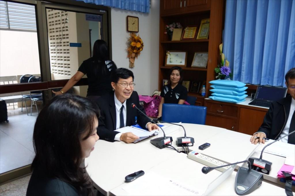 Assoc. Prof. Kasem, Vice President of Thaksin Univ.
