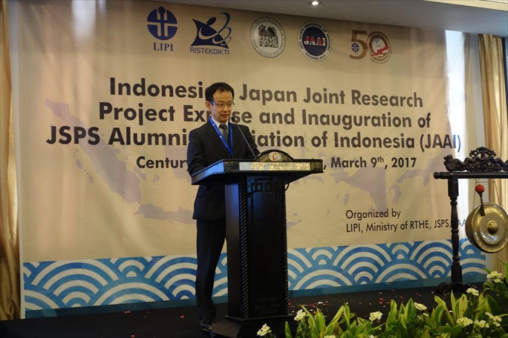 Mr. Takaaki Iwasa, Executive Director of JSPS,