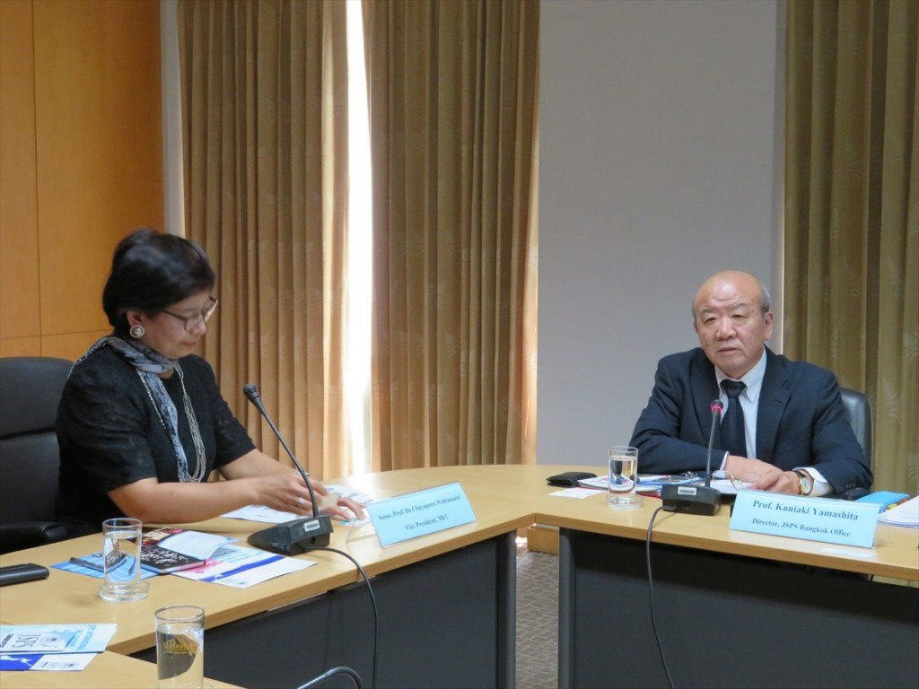 Prof. Kuniaki Yamashita, Director of JSPS Bangkok Office