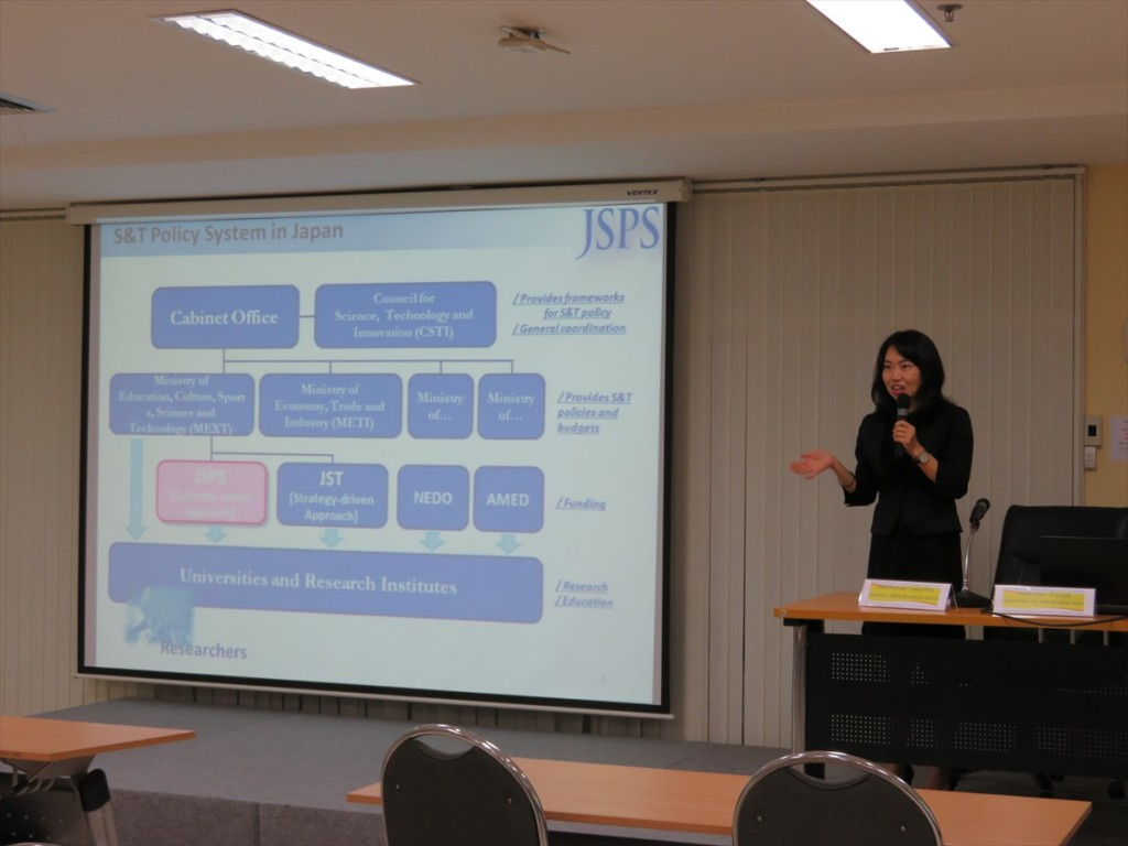 Ms. Noriko Furuya, Deputy Director of JSPS Bangkok Office