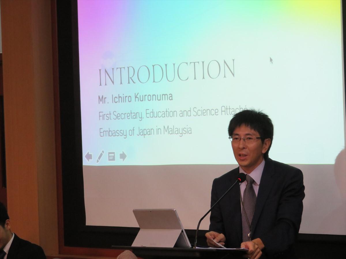 Mr. Ichiro Kuronuma, First Secretary, Embassy of Japan in Malaysia