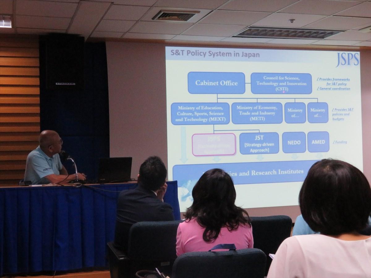 Prof. Kuniaki Yamashita, Director, JSPS Bangkok Office