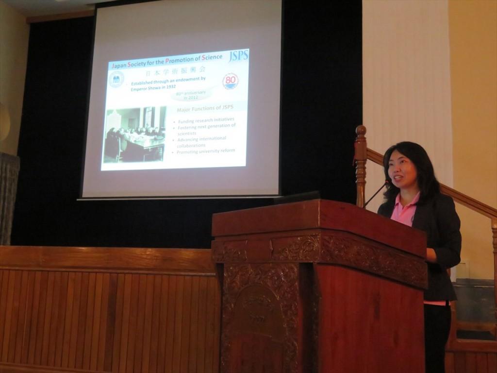 Ms. Noriko Furuya, Deputy Director, JSPS Bangkok Office,
