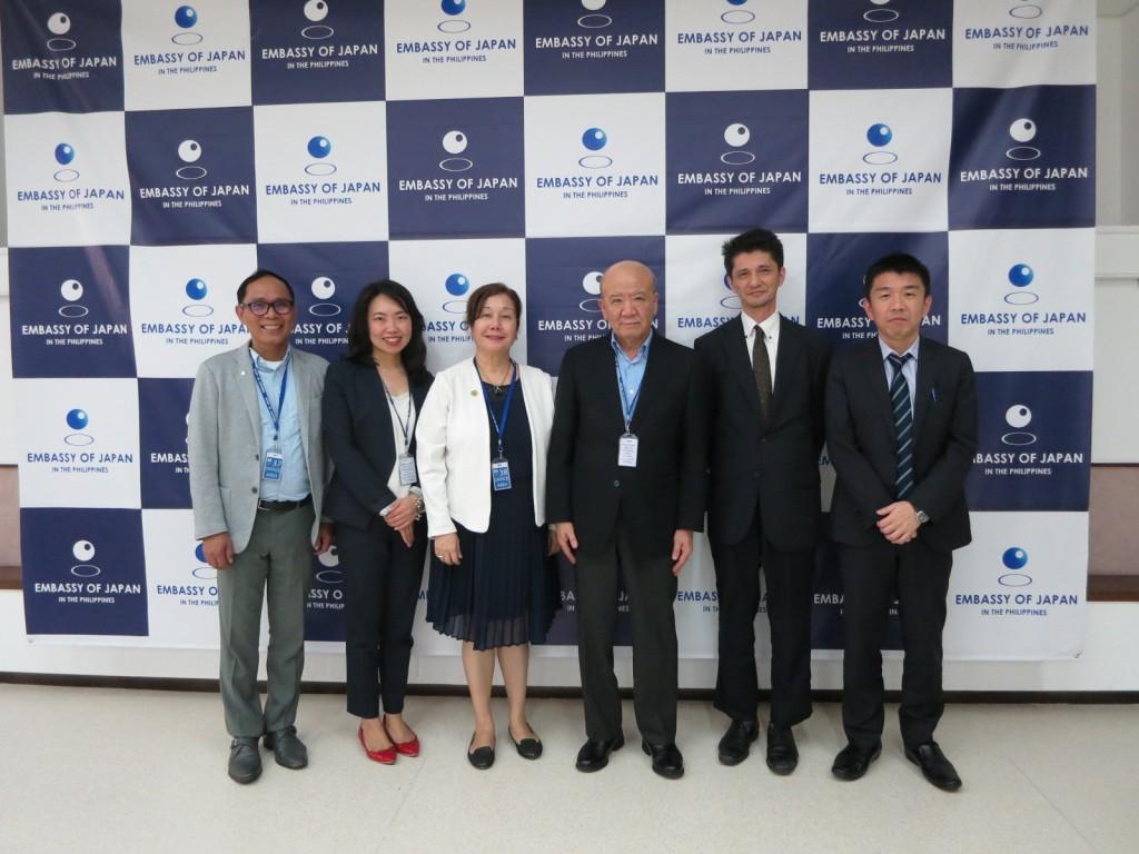 Dr. Reyes, Ms. Furuya, Dr. Gallardo, Prof. Yamashita, Mr. Nakamura and Mr. Taguchi