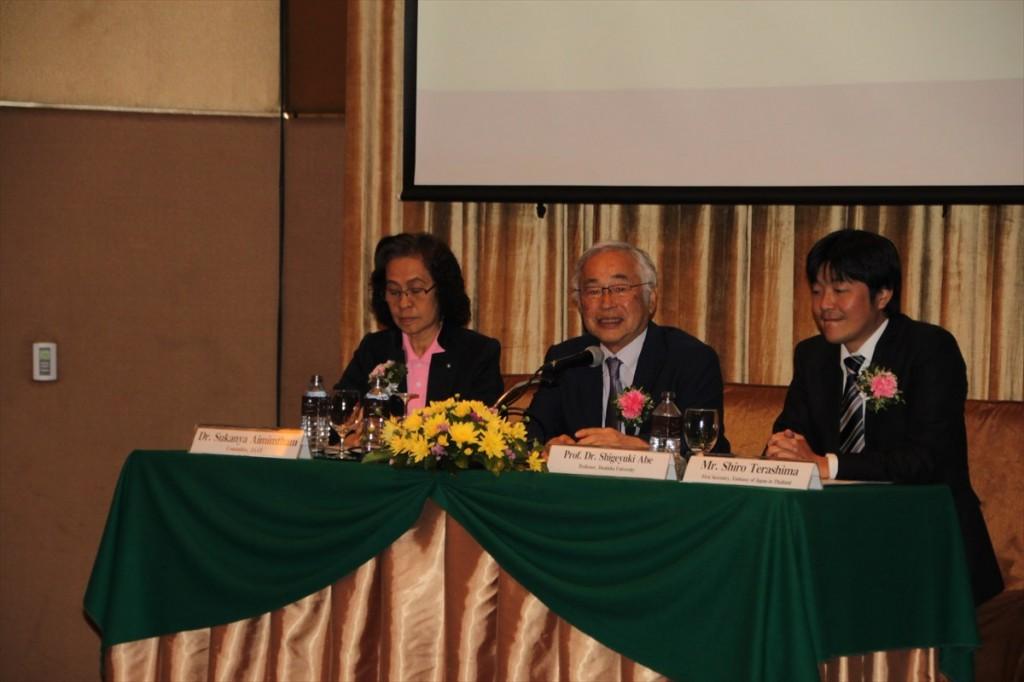Assoc. Prof. Dr. Sukanya Aimimtham (Moderator), Prof. Shigeyuki Abe, Mr. Shiro Terashima