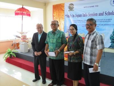 (From left) Prof. Yamashita, Dr. Wirawan, Dr. Anak, Mr. I Kut Tika