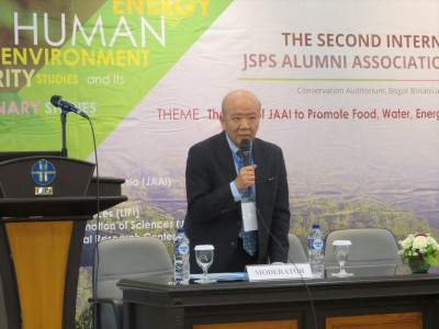 Prof. Yamashita was a moderator during the keynote speech