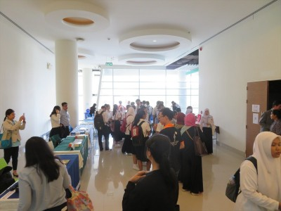 Booth area of the Japan Education Fair