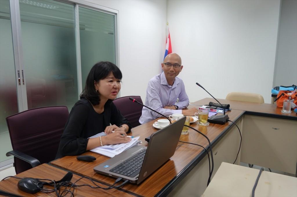 Dr. Suppasil and Ms. Tsuji
